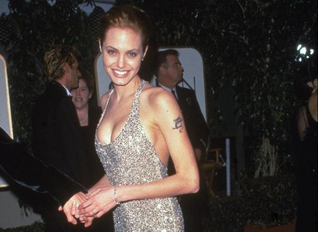 Angelina Jolie At 1999 Golden Globe Awards