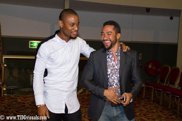 Alex Ekubo and  Majid Michel