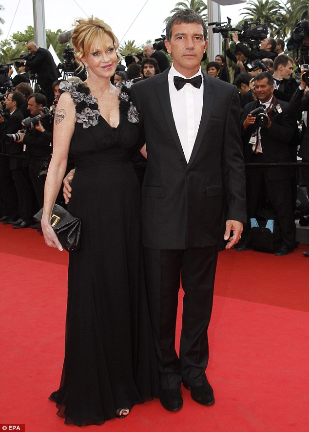 Melanie and Antonio at the Cannes Film Festival in 2011, before the divorce
