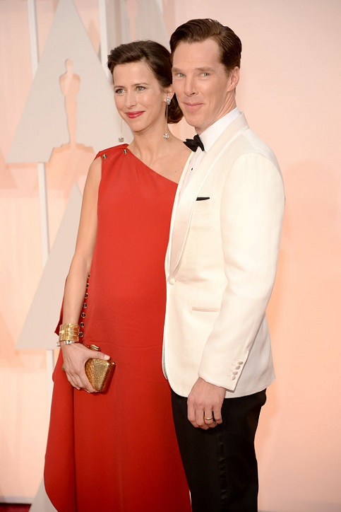 Benedict Cumberbatch (R) and director Sophie Hunte