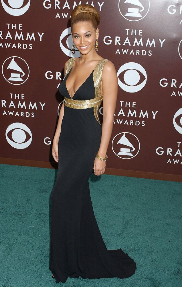 Beyonce at the 2005 Grammy Awards