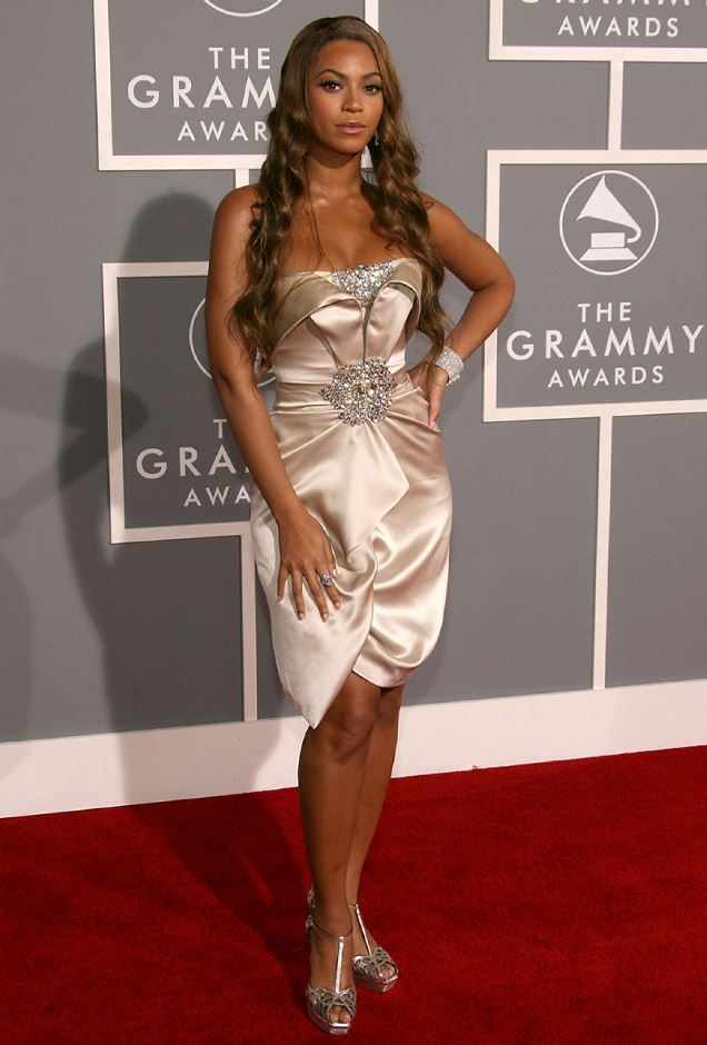 Beyonce at the 2007 Grammy Awards