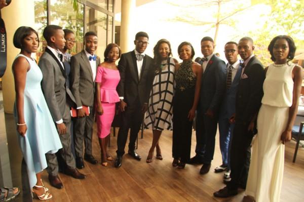 Genevieve-Nnaji-and-the-11-students-1