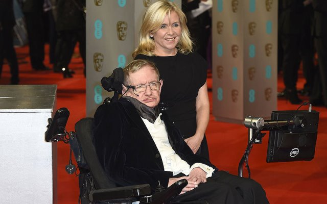 Stephen Hawking with daughter, Lucy