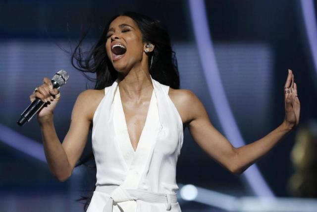 Singer Ciara performs during a taping of the Black Girls Rock award ceremony at the New Jersey Performing Arts Center, Saturday, March 28, 2015, in Newark, N.J. United States First Lady Michelle Obama attended the taping and gave a speech during the ceremony. (AP Photo/Julio Cortez)