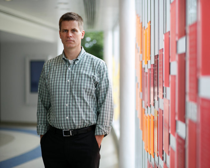 Jeffrey Bridge, in Columbus, Ohio, led a study that tracked suicide rates for ages 5 to 11 from 1993 to 2012. The white rate fell. Credit Maddie McGarvey for The New York Times