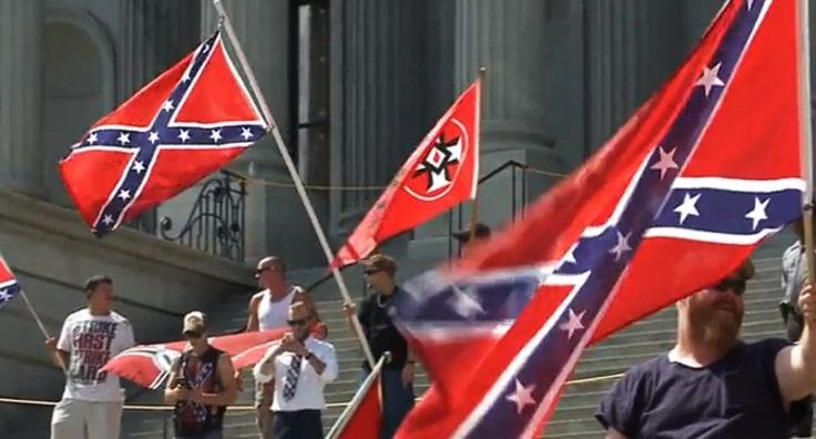 Neo-Nazis and white supremacists rally outside South Carolina state capital - screencap