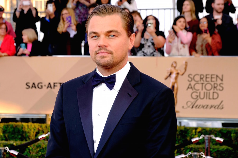LOS ANGELES, CA - JANUARY 30: Actor Leonardo Dicaprio attends The 22nd Annual Screen Actors Guild Awards at The Shrine Auditorium on January 30, 2016 in Los Angeles, California. 25650_014 (Photo by Larry Busacca/Getty Images for Turner)