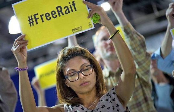 Italians rally outside Saudi Embassy against flogging of blogger