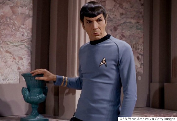 "LOS ANGELES - NOVEMBER 22: Leonard Nimoy as Mr. Spock in the STAR TREK episode, ""Plato's Stepchildren.""  Original air date, November 22, 1968.  Season 3, episode 10.  Image is a screen grab."